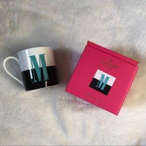 Kate Spade Lenox Letter M Monogrammed Coffee Cup